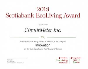 EcoLiving Award Certificate 2013-06